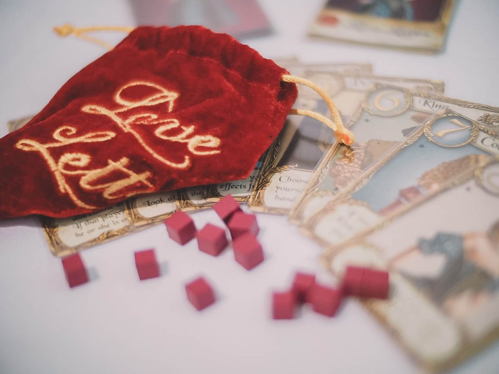 One of our favorite board games to play with our parents is Love Letter (Photo by Angela)