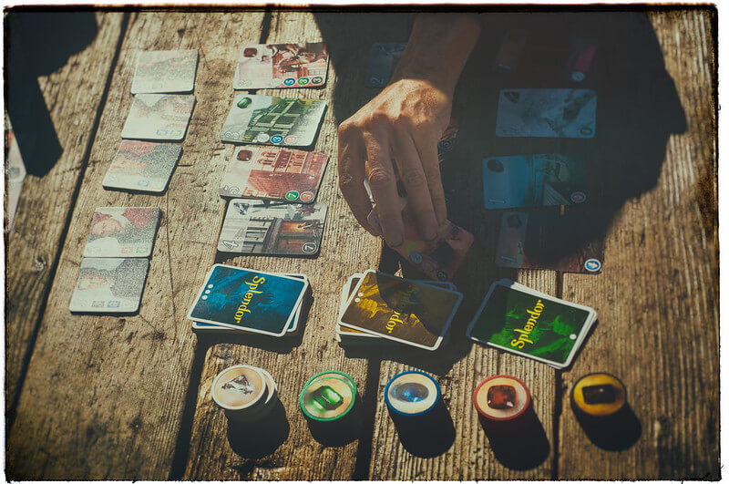 Splendor is a great game for all ages, even seniors (Photo by David Goehring)