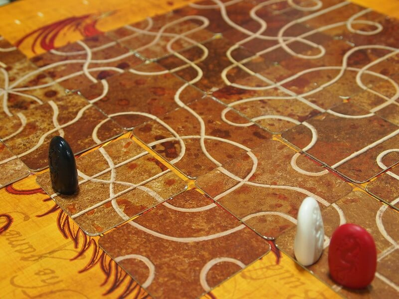 Don't get pushed out of the map in Tsuro (Photo by Louis Oliveira)